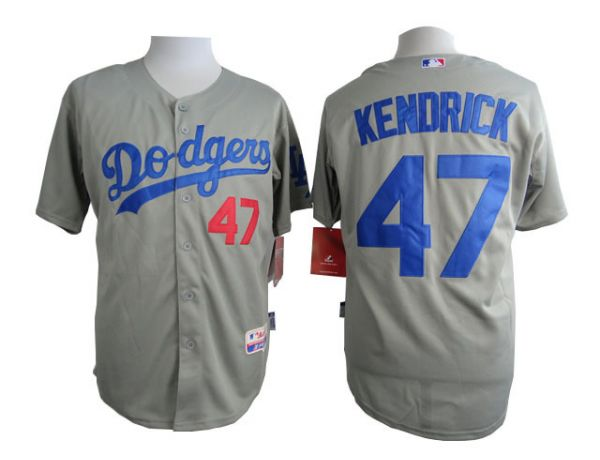 MLB Los Angeles Dodgers 47 Kendrick Grey 2015 Jerseys