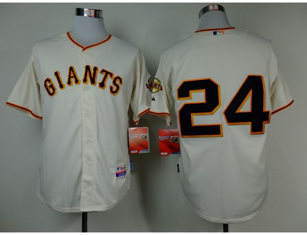 MLB San Francisco Giants 24 Mays Gream Throwback 2015 Jerseys