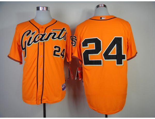MLB San Francisco Giants 24 Mays Orange Throwback 2015 Jerseys