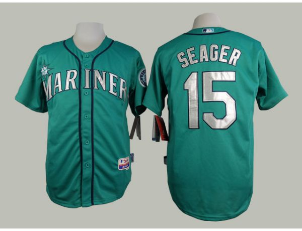 MLB Seattle Mariners 15 Seager Green 2015 Jerseys