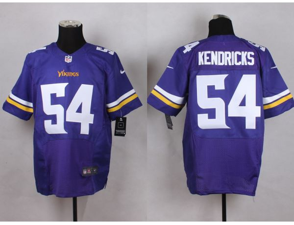 Minnesota Vikings 54 Kendricks Purple Men Nike Elite Jerseys