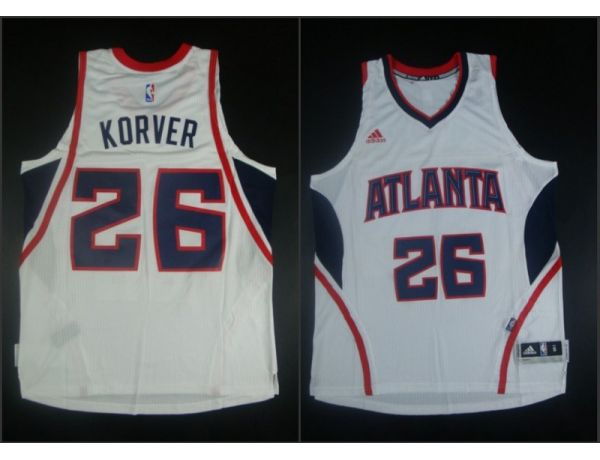 NBA Atlanta Hawks 26 Kyle Korver White 2015 Jerseys