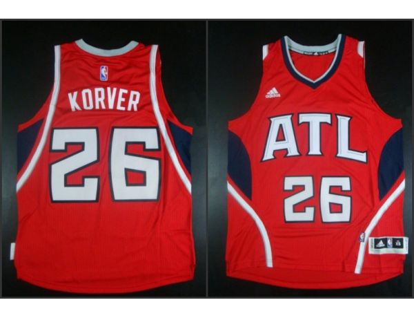 NBA Atlanta Hawks 26 Kyle Korver red 2015 Jerseys