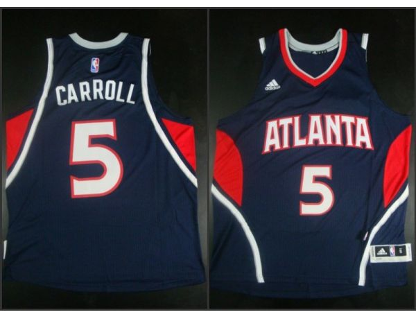 NBA Atlanta Hawks 5 DeMarre Carroll Blue 2015 Jerseys