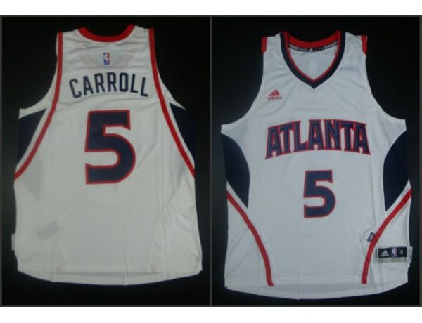 NBA Atlanta Hawks 5 DeMarre Carroll White 2015 Jerseys