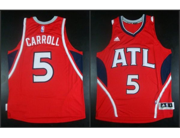 NBA Atlanta Hawks 5 DeMarre Carroll red 2015 Jerseys