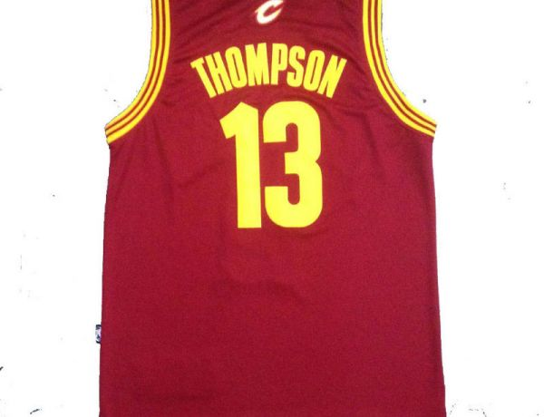 NBA Cleveland Cavaliers 13 Thompson Red New Fabric 2015 Jersey