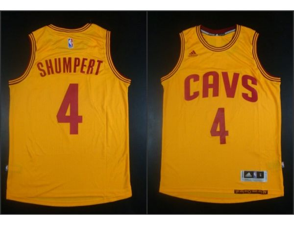 NBA Cleveland Cavaliers 4 Iman Shumpert Yellow 2015 Jerseys