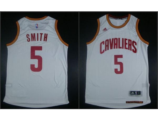 NBA Cleveland Cavaliers 5 JR Smith White 2015 Jerseys