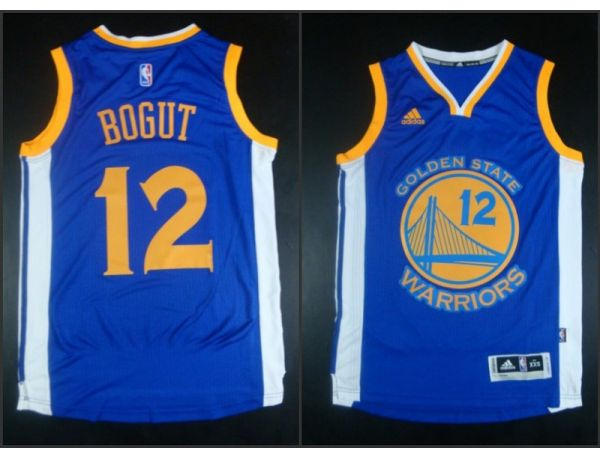 NBA Golden State Warriors 12 Andrew Bogut Blue 2015 Jerseys