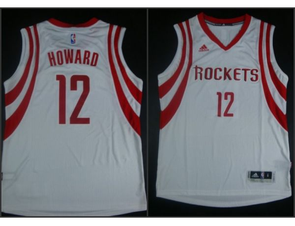 NBA Houston Rockets 12 Dwight Howard White 2015 Jerseys