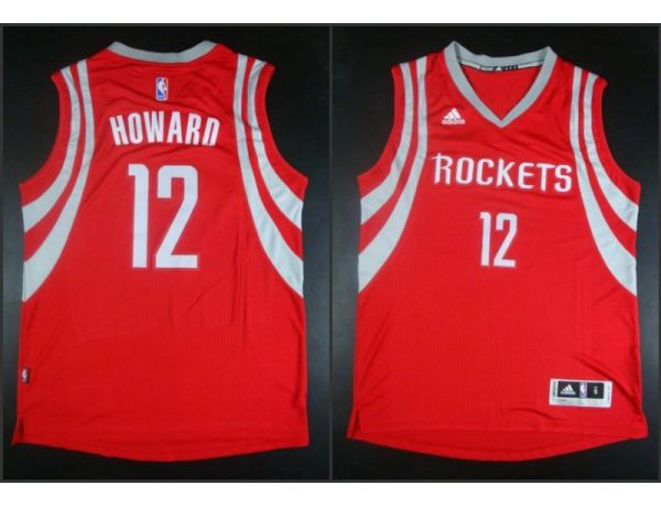 NBA Houston Rockets 12 Dwight Howard red 2015 Jerseys