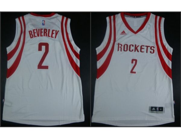 NBA Houston Rockets 2 Patrick Beverley White 2015 Jerseys
