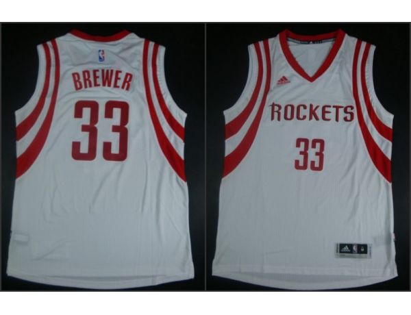 NBA Houston Rockets 33 Corey Brewer White 2015 Jerseys