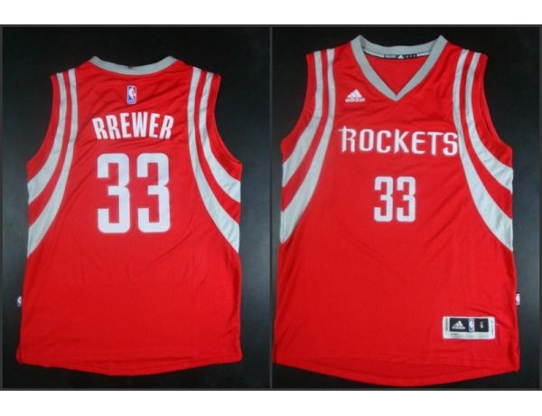 NBA Houston Rockets 33 Corey Brewer red 2015 Jerseys