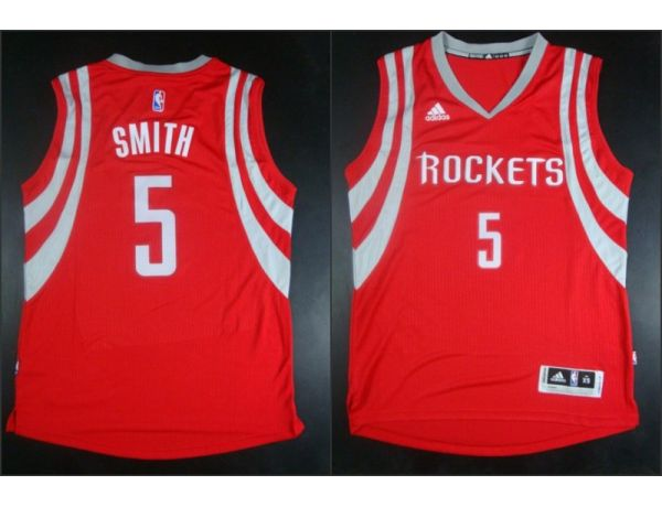 NBA Houston Rockets 5 Josh Smith red 2015 Jerseys