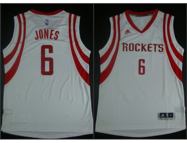 NBA Houston Rockets 6 Terrence Jones White 2015 Jerseys