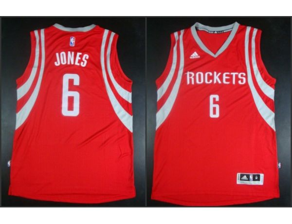 NBA Houston Rockets 6 Terrence Jones red 2015 Jerseys