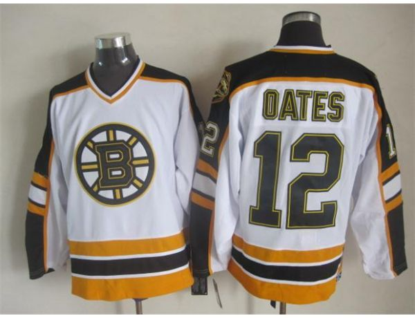 NHL Boston Bruins 12 oates White Throwback Jersey