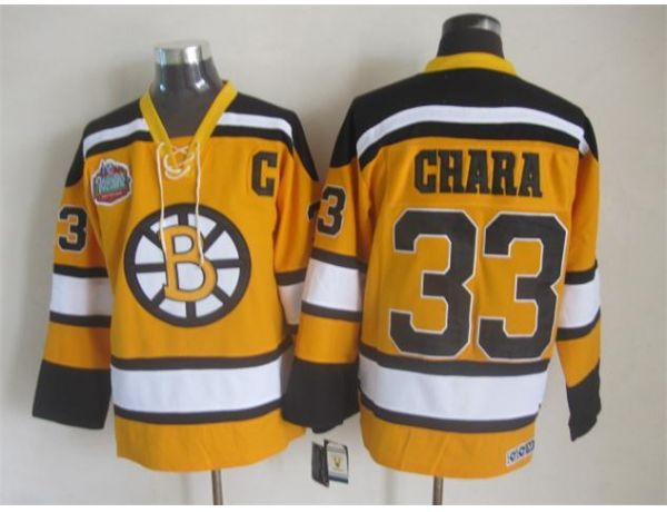 NHL Boston Bruins 33 chara Orange Winter Classic Jersey