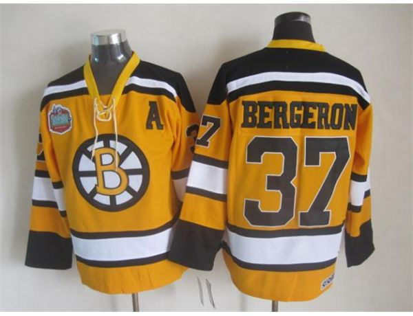 NHL Boston Bruins 37 bergeron Orange Winter Classic Jersey