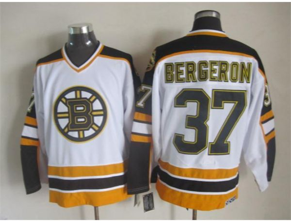 NHL Boston Bruins 37 bergeron White Throwback Jersey