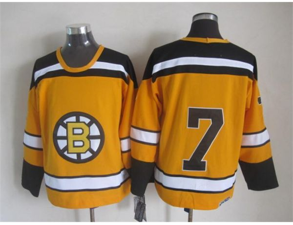 NHL Boston Bruins 7 Orange Throwback Jersey