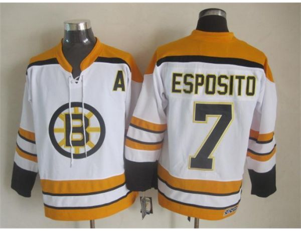 NHL Boston Bruins 7 esposito White Throwback Jersey