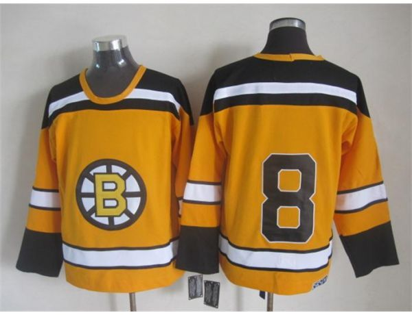 NHL Boston Bruins 8 Orange Throwback Jersey