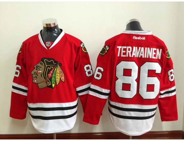 NHL Chicago Blackhawks 86 TERAVAINEN Red 2015 Jersey