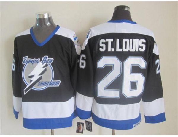 NHL Tampa Bay Lightning 26 ST.LOUIS black Throwback Jersey