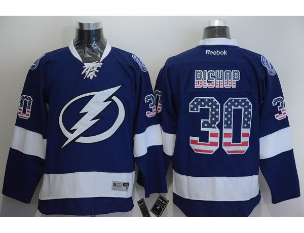 NHL Tampa Bay Lightning 30 Ben Bishop Blue 2015 National Flag Edition