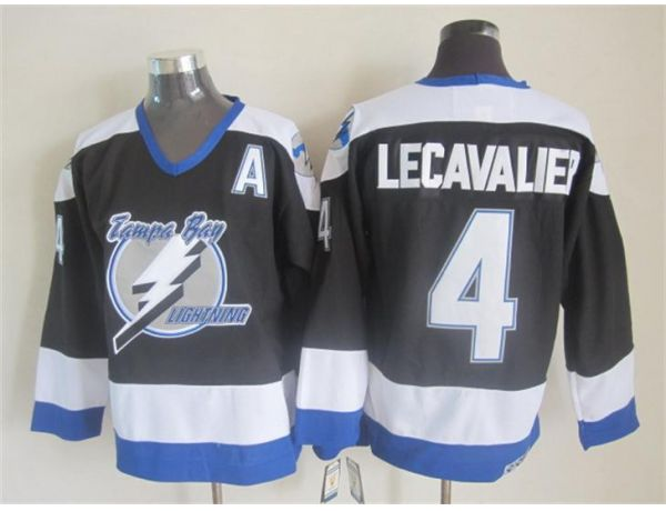 NHL Tampa Bay Lightning 4 lecavalier black Throwback Jersey