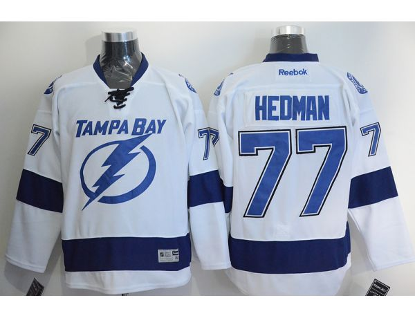 NHL Tampa Bay Lightning 77 Hedman White 2015 Jerseys