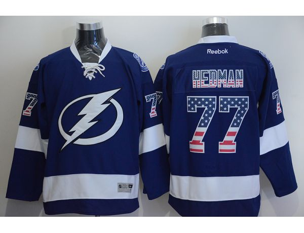 NHL Tampa Bay Lightning 77 Victor HEDMAN Blue 2015 National Flag Edition
