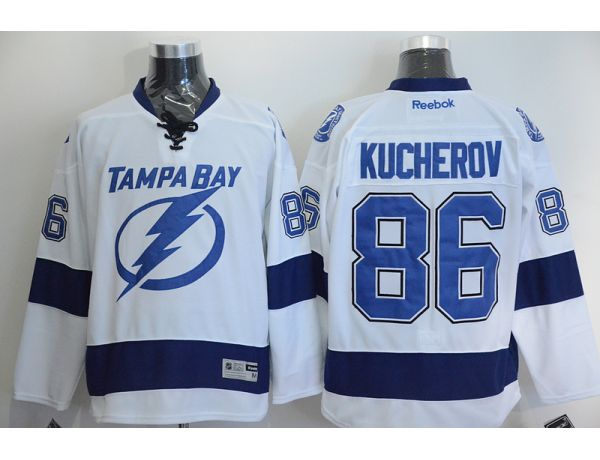 NHL Tampa Bay Lightning 86 Kucherov White 2015 Jerseys