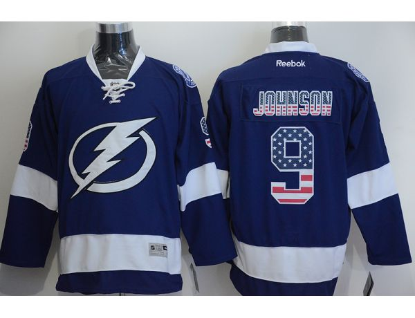 NHL Tampa Bay Lightning 9 Tyler Johnson Blue 2015 National Flag Edition