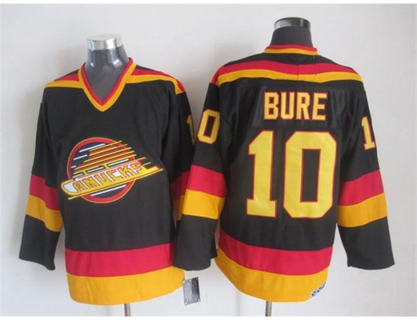 NHL Vancouver Canucks 10 Bure Black Throwback 2015 Jerseys