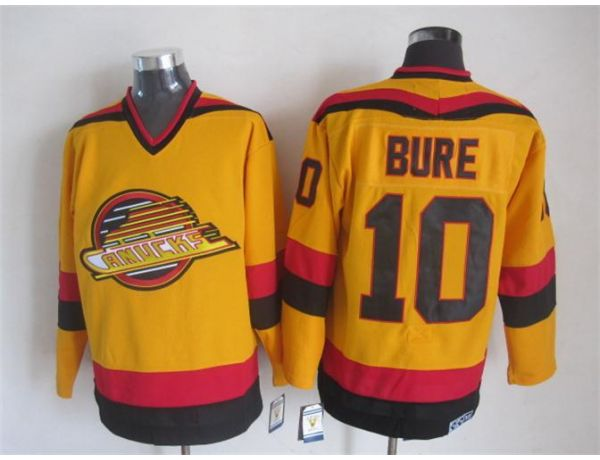 NHL Vancouver Canucks 10 Bure Orange Throwback 2015 Jerseys