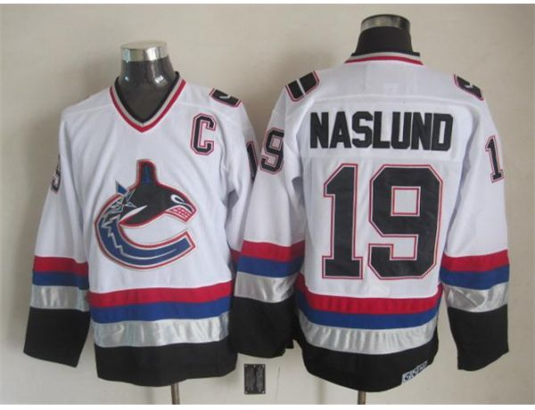 NHL Vancouver Canucks 19 Naslund White Throwback 2015 Jerseys