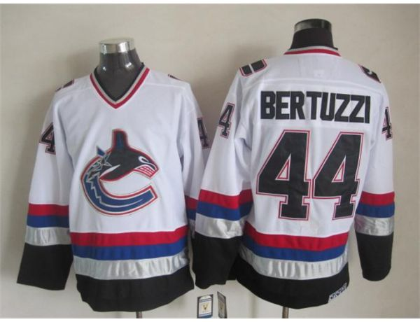 NHL Vancouver Canucks 44 Bertuzzi White Throwback 2015 Jerseys