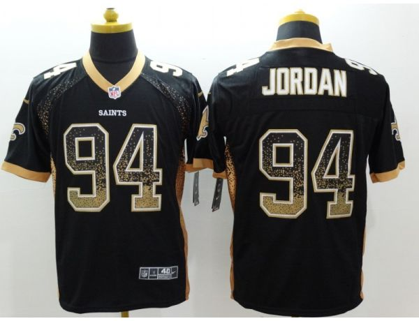 New Orleans Saints 94 Jordan Black drift fashion jerseys