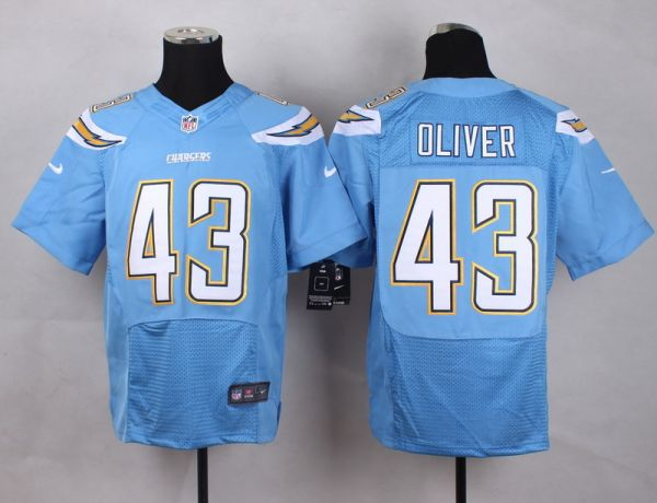 San Diego Chargers 43 Oliver baby blue Men Nike Elite Jerseys