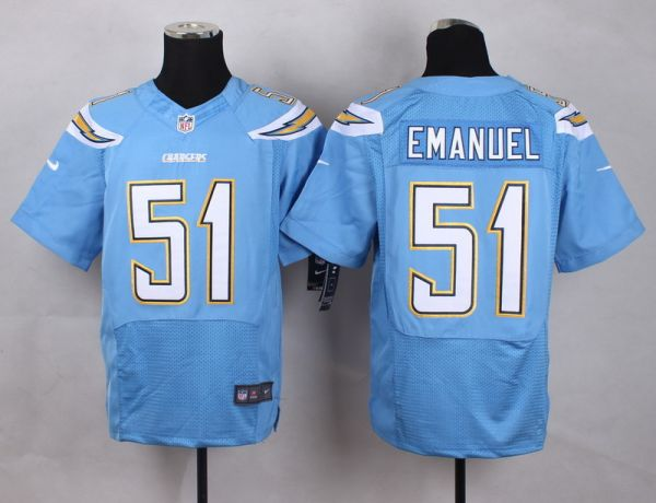 Los Angeles Chargers 51 Emanuel baby Blue Men Nike Elite Jerseys