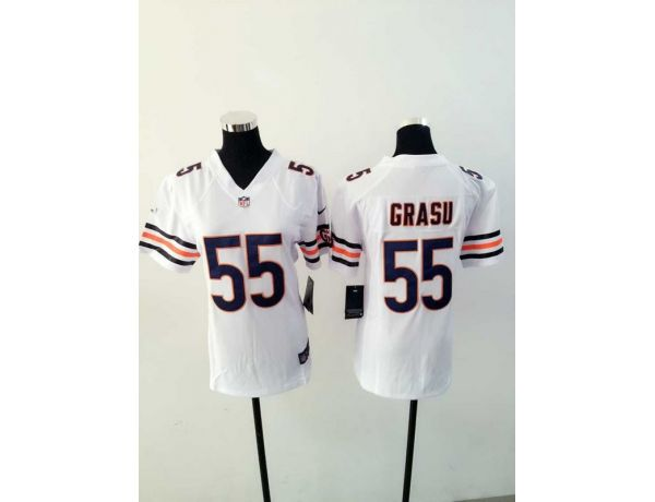 Womens Chicago Bears 55 Grasu White 2015 New Nike Jerseys