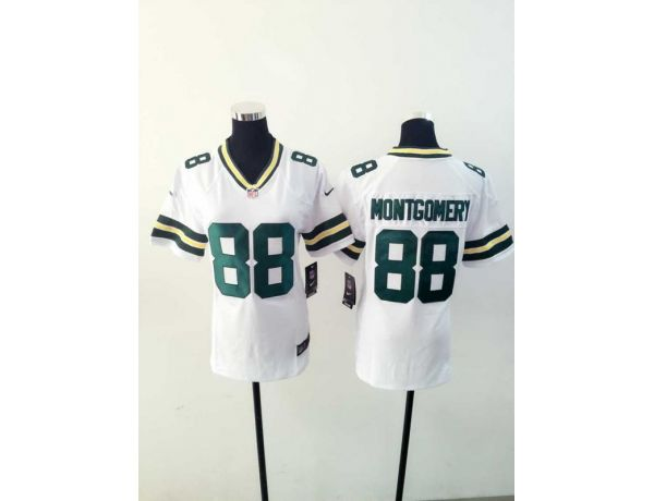 Womens Green Bay Packers 88 Montgomery White 2015 New Nike Jerseys