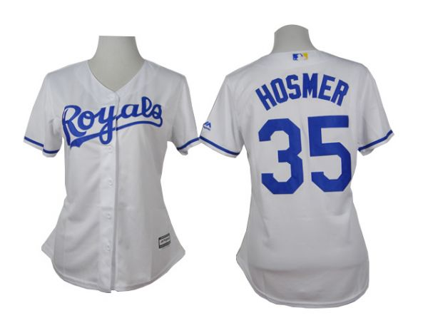 Womens Kansas Royals 35 Hosmer White 2015 Jerseys
