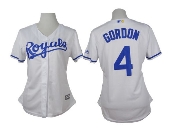 Womens Kansas Royals 4 Gordon White 2015 Jerseys