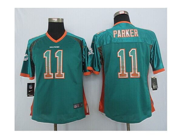 Womens Miami Dolphins 11 Parker Drift Fashion Green 2015 New Nike Jerseys