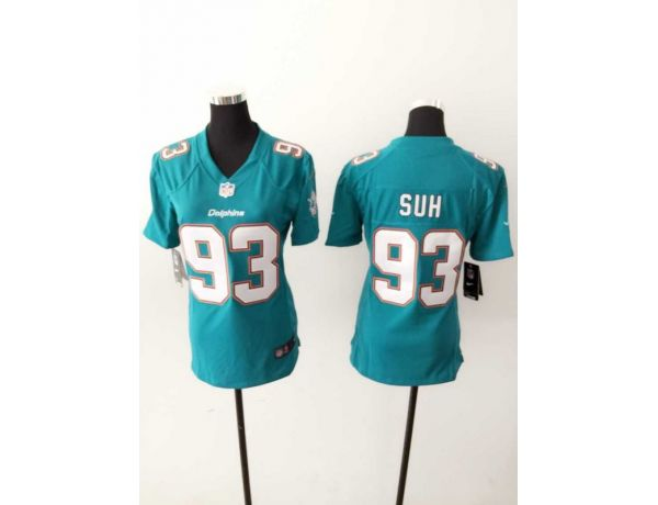Womens Miami Dolphins 93 SUH Green 2015 New Nike Jerseys